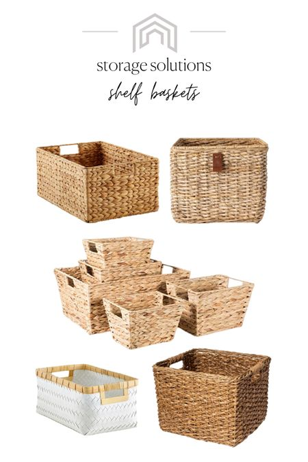 """Talking about keeping your home """"show-ready"""" on the blog! If you've ever sold a home, you know how hard that is! Here are some of my favorite storage baskets to use as catch-alls when you have to get out of the house. These look great on bookshelves, in mudrooms, and on built-ins! http://liketk.it/3f395 #liketkit @liketoknow.it #LTKunder50 #LTKunder100 #LTKhome #neutraldecor #storage #baskets #storagebaskets #declutter"""