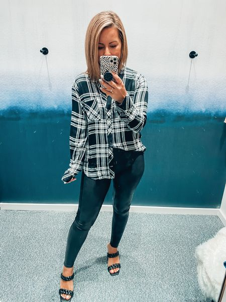 This plaid button down is everything & so are these sandals that are super comfy!   #LTKSeasonal #LTKstyletip #LTKshoecrush