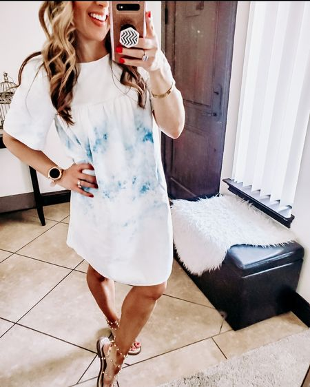 This denim dress is so comfortable and lightweight not a thick denim. It would be a cute 4th of July dress, perfect for a casual day out or bbq! Summer dress, 4th of july style, jelly sandals, gladiator sandals, old navy, vacation outfit, denim dress, summer outfit idea. http://liketk.it/3ijvd @liketoknow.it #liketkit #LTKSeasonal #LTKVDay #LTKsalealert #LTKstyletip #LTKunder50 #LTKunder100 #LTKfit #LTKfamily #LTKcurves #LTKtravel #LTKshoecrush #LTKbump #LTKbeauty #LTKswim #LTKitbag #LTKhome #LTKwedding #LTKworkwear