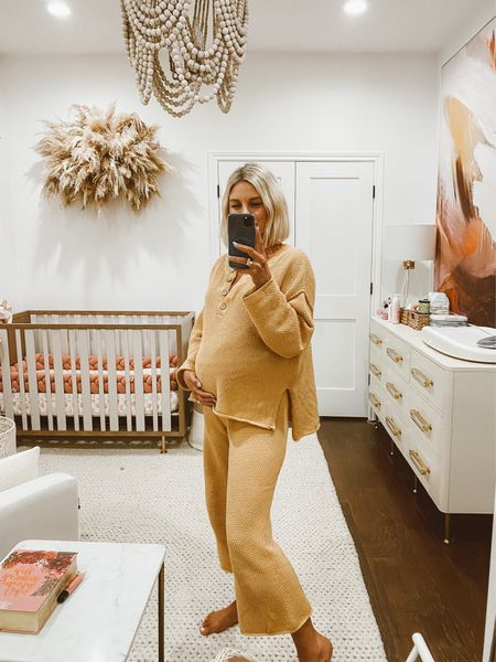 the comfiest set for pre, during, and postpartum 🤍 (oversized fit, wearing a size small) //   #LTKbump #LTKbaby