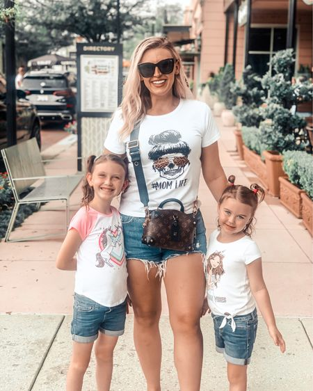 Graphic tee shirts for the win. Love matching with my littles. Tagged some similar options for our shorts and outfits   #LTKfamily #LTKtravel #LTKstyletip