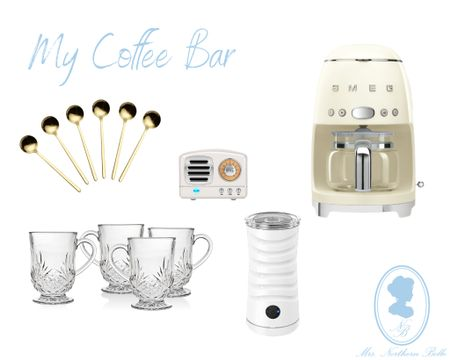Lots of questions on my stories so I decided to share my coffee bar accessories! 💙   #LTKHoliday #LTKSeasonal #LTKhome
