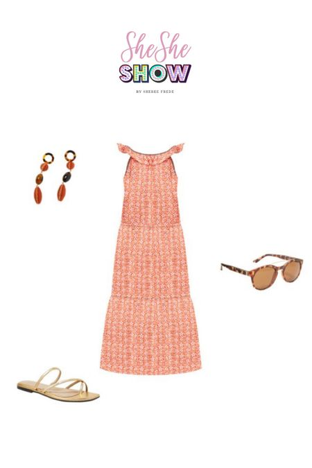 Summer style @anntaylor #anntaylor #maxidress #sundress #resortwear #sunglasses #statementearrings #sandals   #LTKtravel #LTKstyletip #LTKunder100