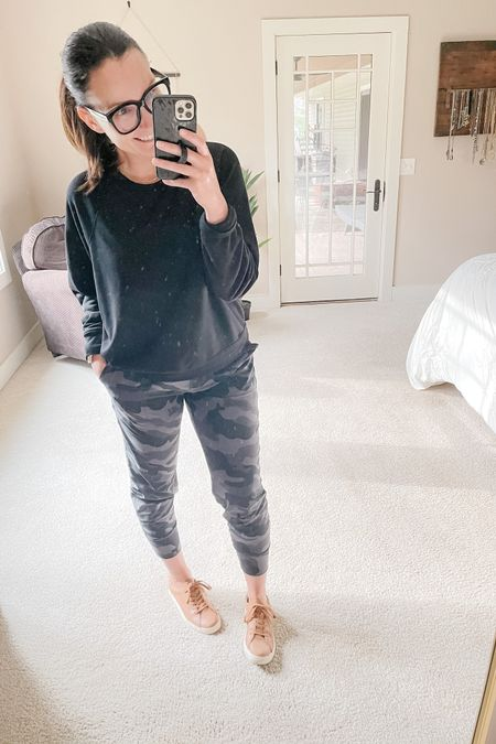On today's task list: clean mirror. 🤦🏻♀️ Spending today Spring cleaning and swapping out winter for summer stuff in the garage. Oh the fun of being an adult.  These camo joggers are now a fav of mine and come in so many other colors. True to size!   http://liketk.it/3cBge #liketkit @liketoknow.it Follow me on the LIKEtoKNOW.it shopping app to get the product details for this look and others