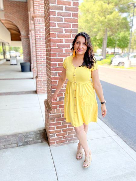 Bright summer dresses are my faves. 💛 #amazonfinds #amazonfashion #amazonclothes   #LTKworkwear #LTKSeasonal #LTKunder50
