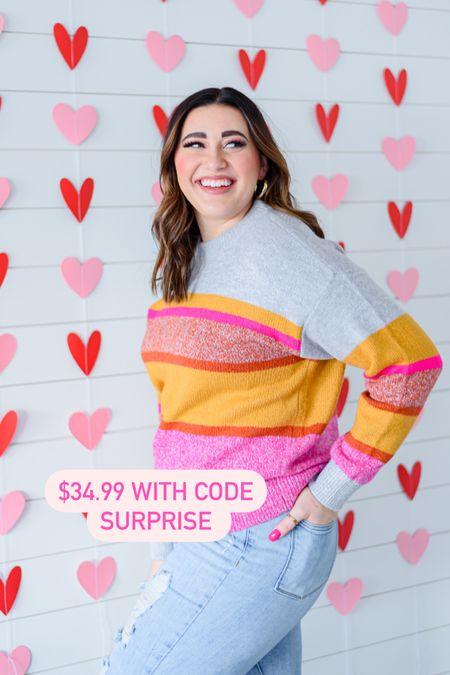 LOFT Lou & grey cozy sweater // perfect for Valentine's Day or a chilly spring day   #LTKsalealert #LTKSeasonal #LTKVDay