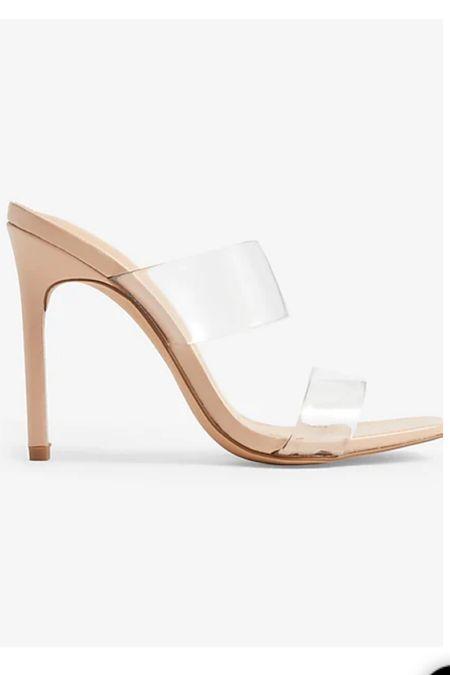 Clear heels in nude tts   #LTKunder100 #LTKshoecrush #LTKwedding