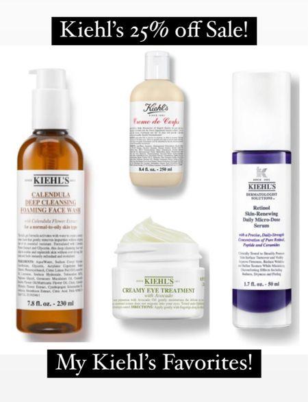 Kiehl's 25% off sale! Here's my faves: Calendula Face Wash, Creme de Corps Body Creme, Avocado Eye Cream, Retinol Serum.    #LTKsalealert #LTKunder50 #LTKbeauty