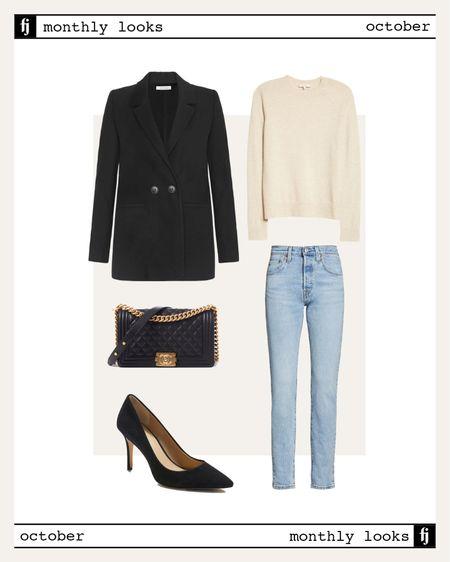 October fall outfit idea #falloutfits  #LTKunder100 #LTKworkwear #LTKstyletip