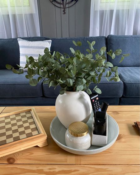 The best fake greenery (eucalyptus ) I have found , linked with Vase (comes in short or taller). Also linked remote holder (comes in black or white), my favorite and most amazing smelling candle , in Capri and a similar stone tray . #LTKstyletip #LTKhome #LTKunder50 #liketkit @liketoknow.it @liketoknow.it.family @liketoknow.it.home http://liketk.it/3gxcY Shop your screenshot of this pic with the LIKEtoKNOW.it shopping app