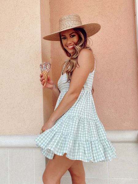 I'm normally not a gingham fan but I am loving the fun movement and this sea foam color for summer! Such a fun dress for any occasion 💕   #LTKstyletip #LTKunder100 #LTKbump