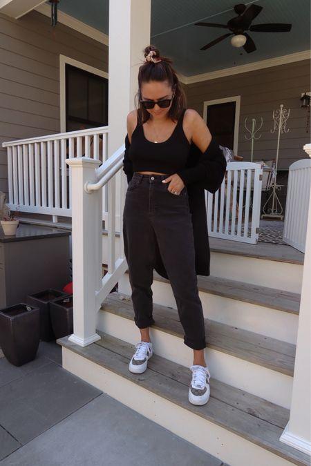 Fall fashion. HM OUTFIT. Black jeans under $50. Black crop top. Black sweater under $50. Fall style.   #LTKunder50 #LTKstyletip #LTKSeasonal