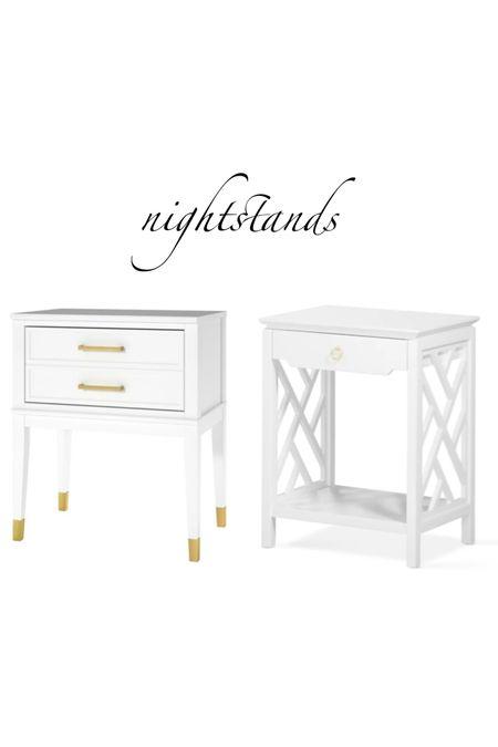 two white nightstands that won't break your  design budget    #LTKstyletip #LTKsalealert #LTKhome