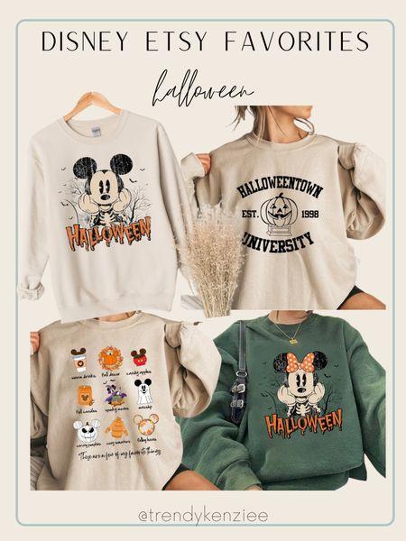Disney halloween sweatshirts / Etsy find / Etsy finds / Halloween pullover   #LTKHoliday