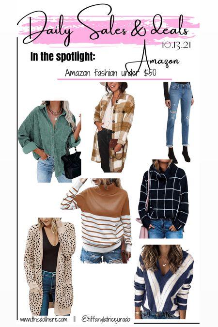 Amazon fall fashion, amazon fashion, sweater, shacket, cardigan  #LTKSeasonal #LTKsalealert #LTKunder50