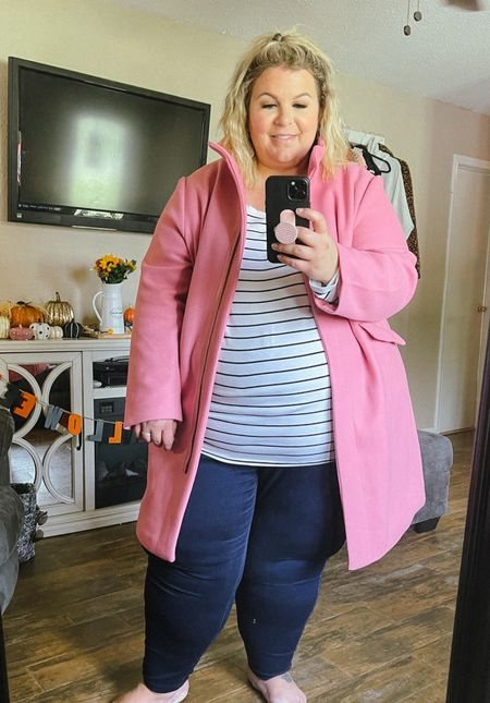 This plus size coat is an affordable Walmart plus size fashion find but looks and feels so expensive! Wearing a 3X in this. Under $50!   #LTKcurves #LTKunder50 #LTKSeasonal