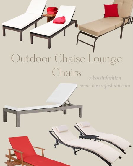 Shop my favorite outdoor chaise lounges for by the pool! I also attached some lounge cushions too. We are searching the perfect chairs right now! Wish me luck! I'm loving beige or wood chaise lounge chairs right now. #poolside #poolfurniture #backyardfurniture #backyard #patiodecor #LTKhome @liketoknow.it.home Follow me on the LIKEtoKNOW.it shopping app to get the product details for this look and others http://liketk.it/3hSn8 #liketkit @liketoknow.it