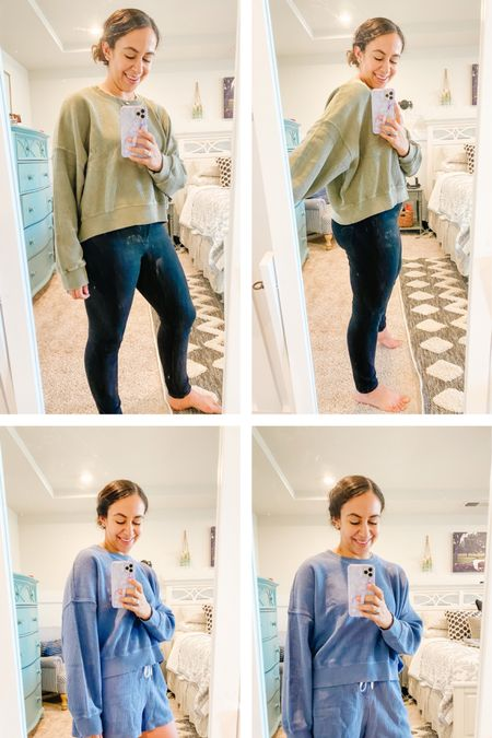 Aerie try on! Posted a poll in my stories and I need your help. Super comfy outfit. You could size down in the top but bottom is TTS. http://liketk.it/3a2uQ #liketkit @liketoknow.it Shop your screenshot of this pic with the LIKEtoKNOW.it shopping app ❤️❤️