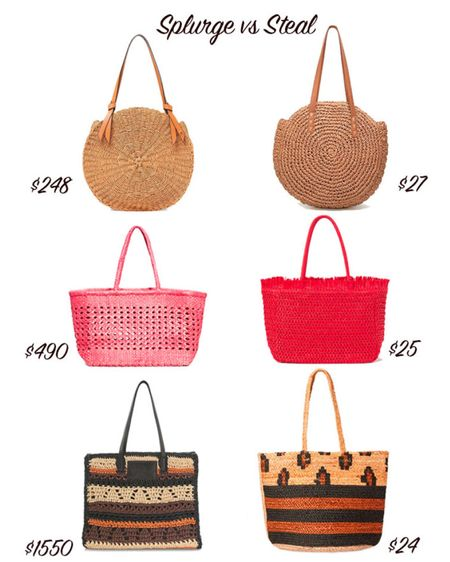Splurge on designer straw totes and beach bags or get a steal. Get H&M, Amazon Fashion and Walmart summer bags for less.   #LTKstyletip #LTKunder50 #LTKSeasonal