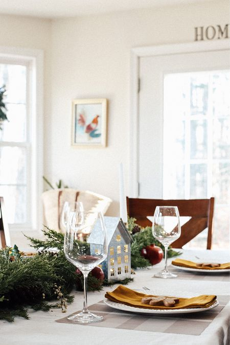 We're almost ready for this years Christmas dinner! We're sharing our must-haves to decorate your table this holiday.  #holidaytable #tablescape #christmastable #christmasdecor #decorations #lightedgarland #christmashouse #homefortheholidays #holdiaysathome  Plus everything you need for your holiday tablescape.   #LTKGiftGuide #LTKHoliday #LTKSeasonal