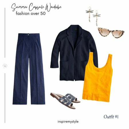 Summer Capsule Wardrobe for women over 50. Outfit #1 from the 20 piece collection. See it here https://inspiremystyle.com/summer-capsule-wardrobe/  #LTKstyletip #capsulewardrobe #womenover50 #liketkit @liketoknow.it http://liketk.it/3ewQn Download the LIKEtoKNOW.it app to shop this pic via screenshot Shop your screenshot of this pic with the LIKEtoKNOW.it app