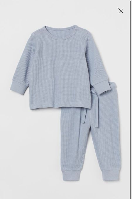 This little waffle blue matching set would be so cute for your little girl or boy!