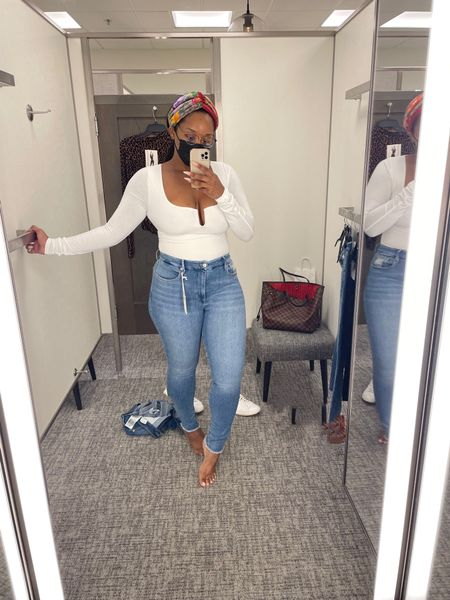 Went shopping for some denim jeans at Nordstrom and omg 😱 these Good American Waist Skinny Jeans are amazing 🤩 Fupa Gone!!   #LTKSale #LTKstyletip #LTKcurves