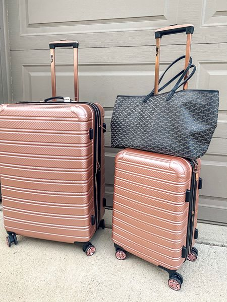 Pink Luggage, i have the 3 piece set! So durable, and lasts so long! I also have white; and black!   #LTKstyletip #LTKtravel #LTKunder100