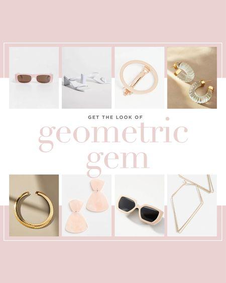 Get the look of Geometric Gem with these accessories!   #LTKshoecrush #LTKwedding #LTKstyletip