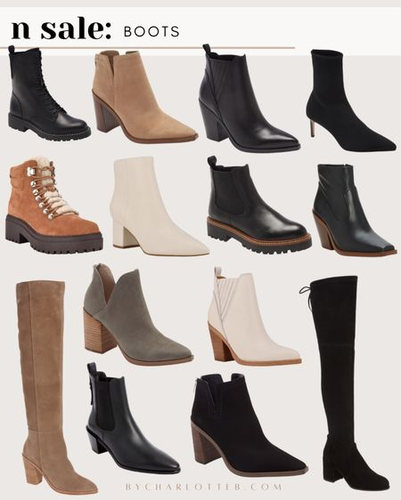 Boots and booties for fall and winter available now in the Nordstrom anniversary sale #nsale   #LTKsalealert #LTKshoecrush #LTKstyletip