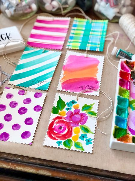 Linking up the supplies I used to create these simple hand-painted gift tags! Painting your own gift tags is a fun creative project that allows you to create a mini masterpiece, while also giving you the ability to coordinate your tags with any gift wrapping! I hope you'll give them a try! http://liketk.it/3eDFC #liketkit @liketoknow.it #LTKfamily #LTKhome #LTKunder50 #gifttags #maker #handmade #makeityourself #creative #papercrafts #painting Follow me on the LIKEtoKNOW.it shopping app to get the product details for this look and others Follow me on the LIKEtoKNOW.it shopping app to get the product details for this look and others