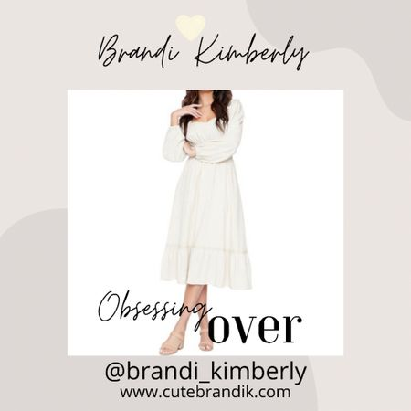 This midi dress is so darling and sweet… who says you can't wear white after Labor Day?!? Teh! Lol!   #LTKstyletip #LTKbacktoschool #LTKSeasonal