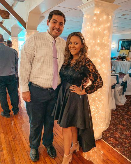 Wedding guest dress. Little black dress. LBD. Wedding guest outfit. High low dress. Amazon fashion. Amazon dress. Fall wedding dress. Semi formal dress.   #LTKunder50 #LTKwedding #LTKunder100