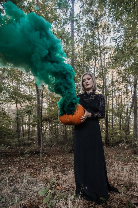 This high neck long sleeve black lace dress was perfect for my Halloween pumpkin photo shoot I had envisioned! I can't believe this dress was only $22! The bodice is see through so you need a black bra for it! I wore my favorite black bra from Amazon.   Follow my shop @linnstyleblog on the @shop.LTK app to shop this post and get my exclusive app-only content!   #LTKunder50 #LTKstyletip #LTKSeasonal