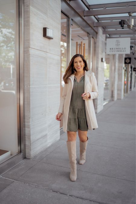 Fall coats and tall boots are a must!!   #LTKSeasonal #LTKstyletip #LTKworkwear
