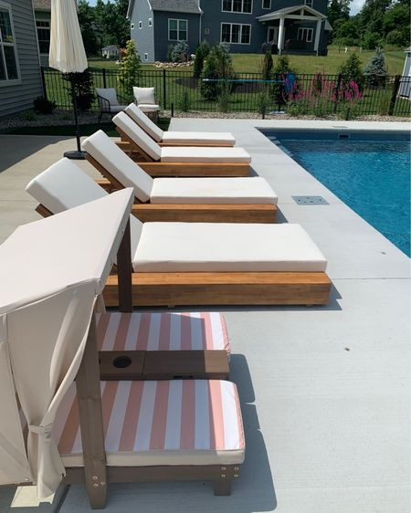 Pool chairs. Lounge chairs. Outdoor furniture. Toddler cabana. Kidkraft lounge chair. Kidkraft outdoor furniture. Kids chair. Outdoor inspo. Pool furniture. @liketoknow.it @liketoknow.it.home http://liketk.it/3iX2C #liketkit #LTKhome