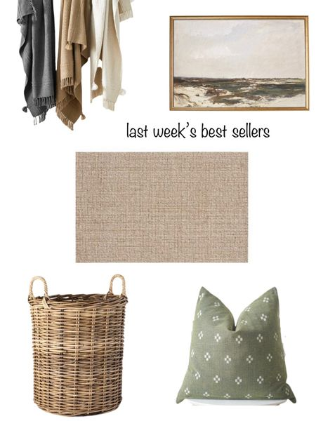 Last week's best-sellers according to you!  My cozy living room rug, my entryway artwork and baskets, Studio McGee Target blankets & an Etsy pillow!   You can instantly shop my looks by following me on the LIKEtoKNOW.it shopping app http://liketk.it/3jBD3 #liketkit @liketoknow.it #LTKunder50 #LTKunder100 #LTKhome @liketoknow.it.home