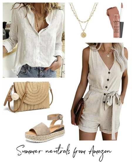 Amazon Summer Neutrals, Amazon Summer Dress, Amazon Finds,     http://liketk.it/3ksws @liketoknow.it #liketkit  #LTKunder50 #LTKstyletip