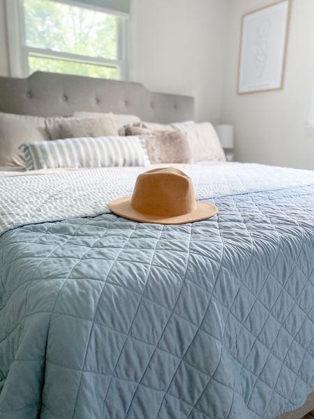 Striped lightweight quilt from Target, under $50!   #LTKstyletip #LTKhome #LTKunder50