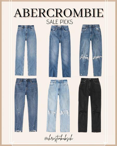 My Abercrombie sale for picks - 30% off   skinny jeans  mom jeans  straight jeans 90's denim  High rise Curve love Ankle straight  #LTKunder50 #LTKunder100 #LTKsalealert