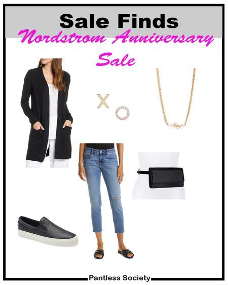 Black shoes. Black sneakers. Mom outfit. Casual outfit. Girls night in. Belt bag. Nordstrom Anniversary Sale. NSale. Black sweater. Plane outfit. Travel outfit.  #LTKtravel #LTKstyletip #LTKsalealert