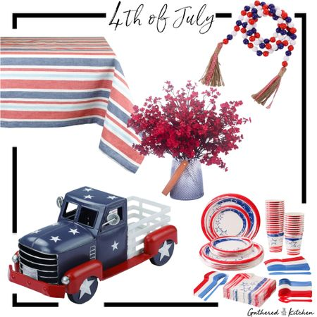 4thvif July tablescapr decor http://liketk.it/3iONs #liketkit @liketoknow.it @liketoknow.it.home #4thofjuly #gatheredinthekitchen Screenshot this pic to get shoppable product details with the LIKEtoKNOW.it shopping app
