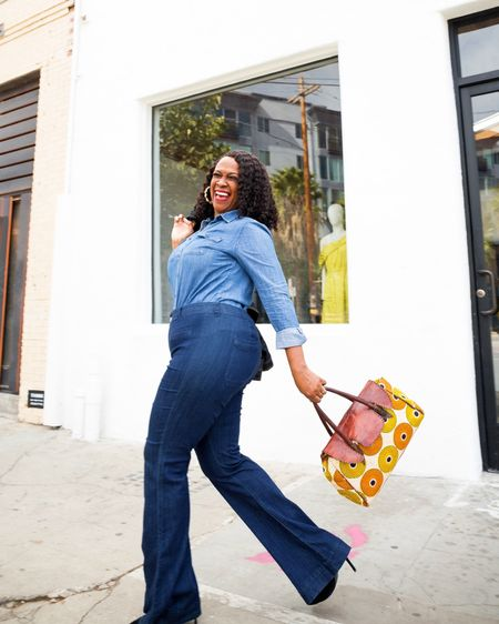 •| ON MY WAY |• To get my blessing! *in my Mary Mary singing voice* . . Where are you headed today?  . . PC @cytherial_ . . Shopped my closet for this denim on denim look.    You can instantly shop my looks by following me on the LIKEtoKNOW.it shopping app @liketoknow.it #LTKitbag #liketkit http://liketk.it/30X5K  . . . . . .   . .#laughterisgoodforthesoul #itsmyfriday #goodvibesonly #beautyover50 #beautyinsideandout #stillevolving #bestlife #styleover40 #blackblogger #getyourlaughon #blackinfluencerover50 #curvesandconfidence #50plusandfabulous #bestlife  #styleoftheday #styleover40 #fiftyplusstyle #inspiremyinstagram #whowhatwearing #discoverunder20k #goldenconfidence #melaninblogger #bealight #fashiondiaries #modestbutstylish #stylishparadox