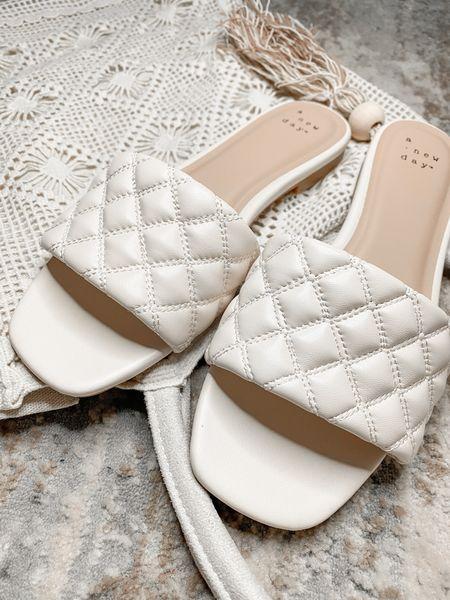 Target sandals on sale! 20% off! 🎯   #beachbag #whitesandals  #LTKSeasonal #LTKshoecrush #LTKsalealert