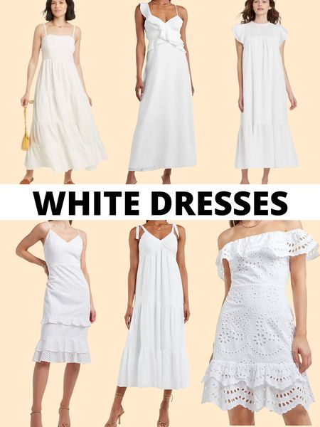 Summer dresses: white dresses            Summer dresses, white dress, Express, target style , target finds, summer outfit , vacation outfit, LTKDay #ltktravel #ltkunder100 #ltkunder50 #ltkstyletip  #LTKDay   #LTKsalealert #LTKwedding