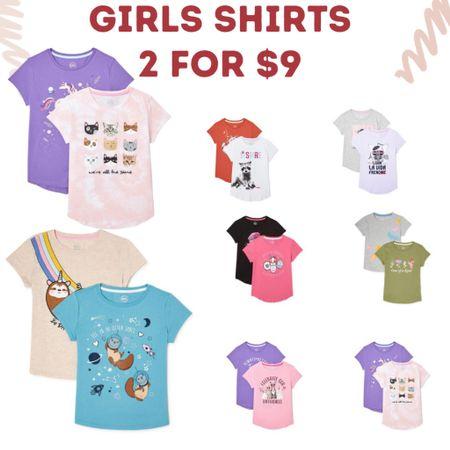 Girls shirts two for $9!   #LTKkids #LTKsalealert #LTKunder50