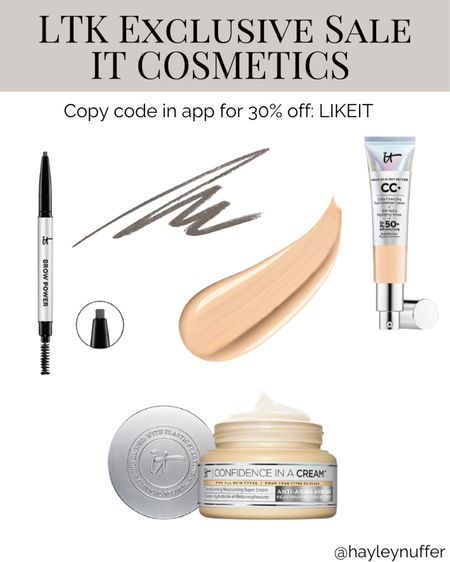 One of my favorite eyebrow pencils is from IT cosmetics. I also enjoy this CC cream foundation and it comes in lots of shades.   #LTKunder100 #LTKsalealert #LTKbeauty