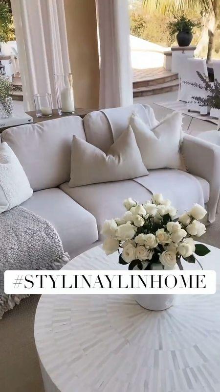Outdoor living area, target finds, affordable home decor, outdoor home decor, this outdoor area is completely protected, sale, neutral home decor, StylinByAylinHome   #LTKhome #LTKstyletip #LTKsalealert