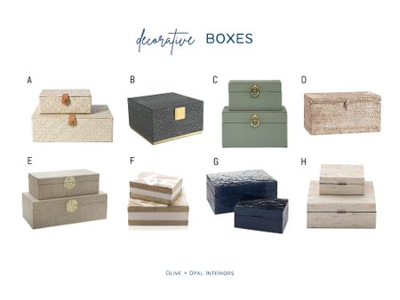 Cute decorative boxes are perfect for shelf styling.  Shelf style, home decor, box sets, decorative boxes  #LTKhome