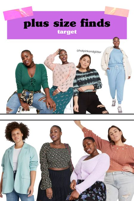 Adorable fresh looks in plus size like this sweatpants, tops and cropped sweaters at target right now   #LTKcurves
